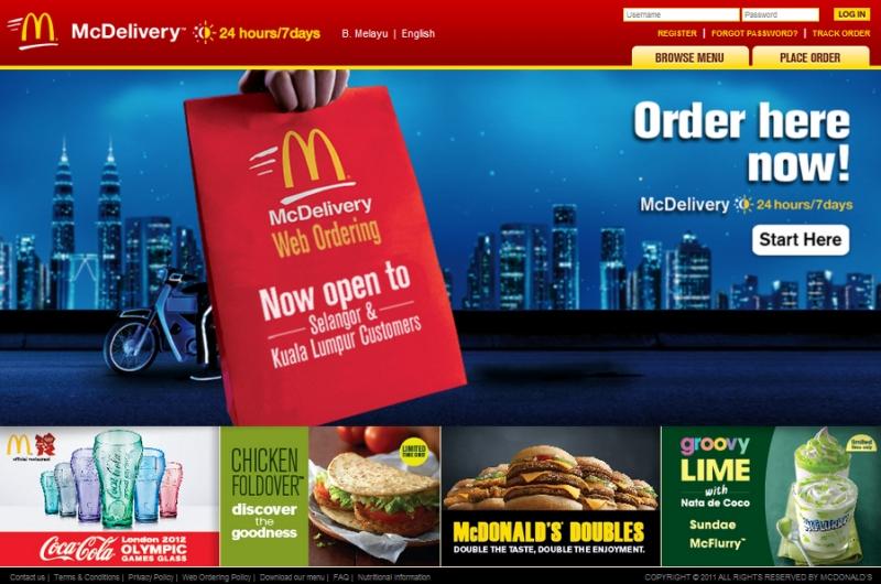order mcdonalds online