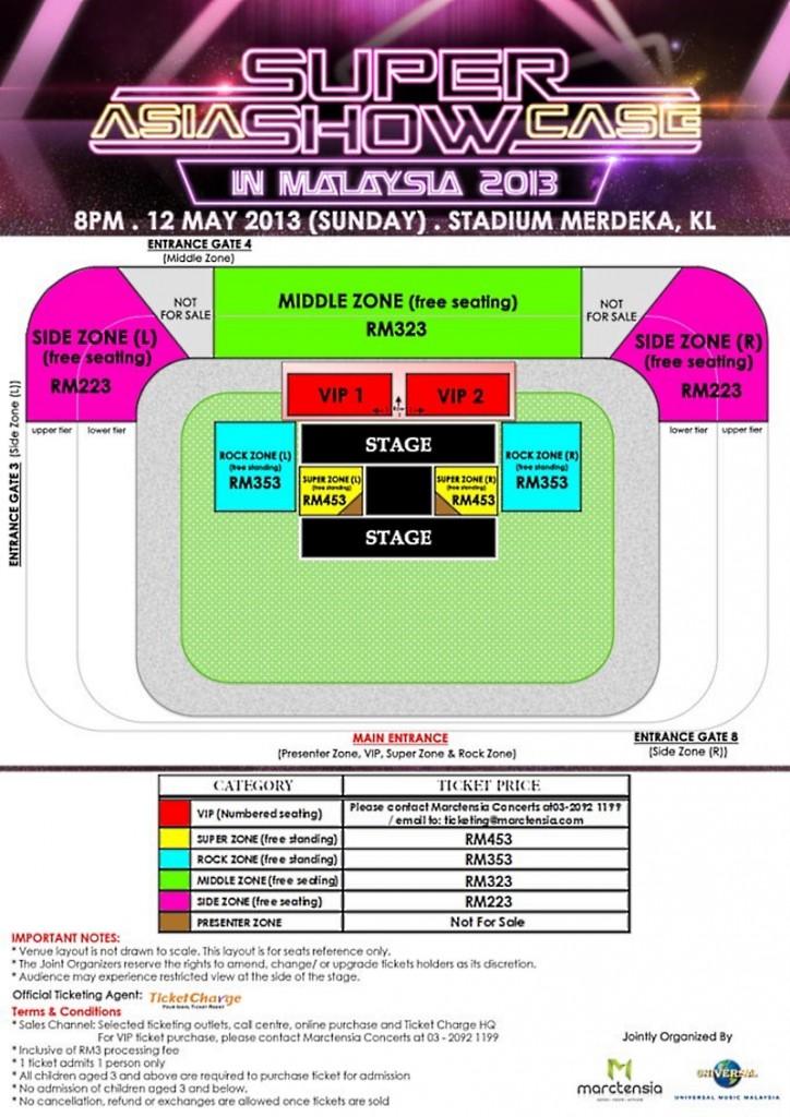 2013 Asia Super Showcase in Malaysia Ticketing