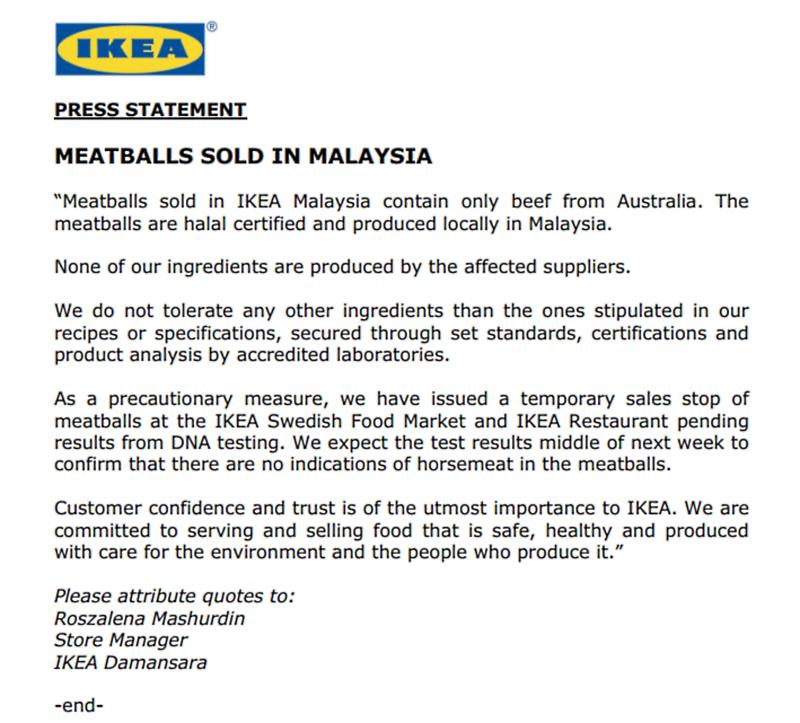 IKEA Malaysia Meatballs