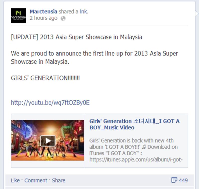 Marctensia Asia Super Showcase 2013 SNSD Girls' Generation