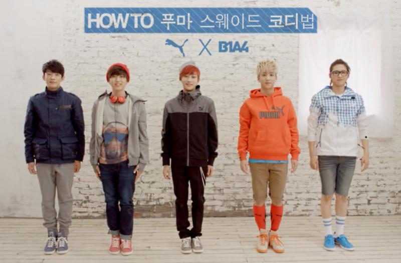 B1A4 PUMA Suede Korea