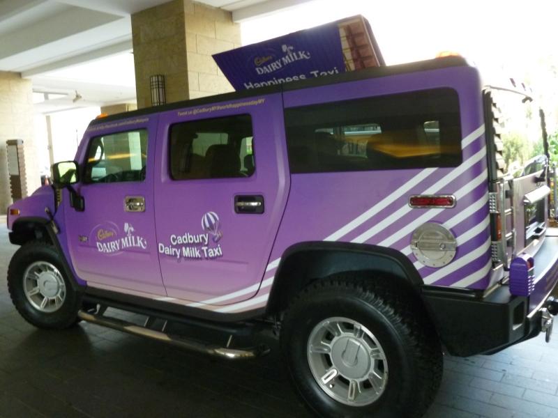 Cadbury World Happiness Day Cadbury Dairy Milk Taxi (2)