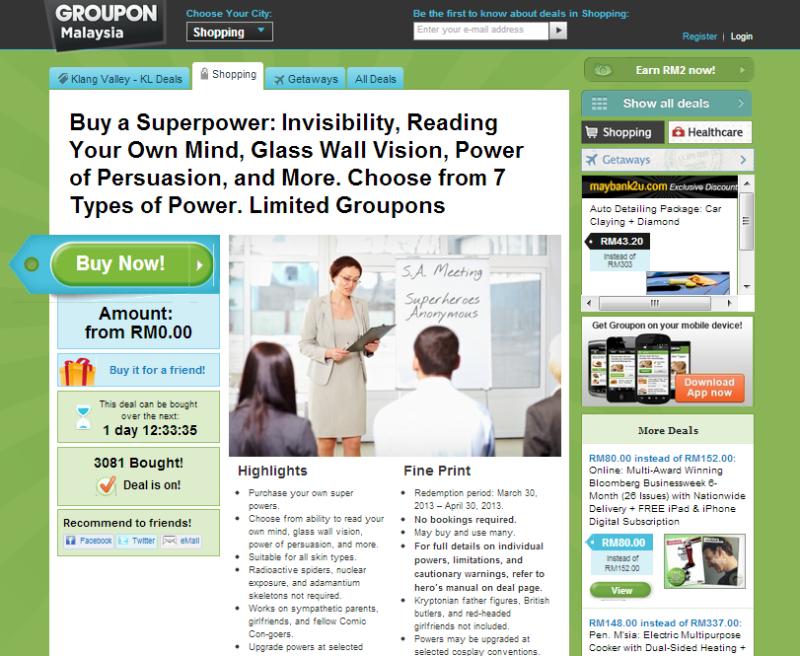 Groupon Malaysia Superpowers
