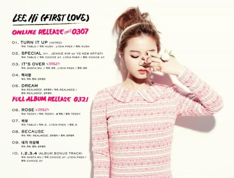 LeeHi First Love Tracklist