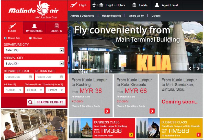 Malindo Airways Website