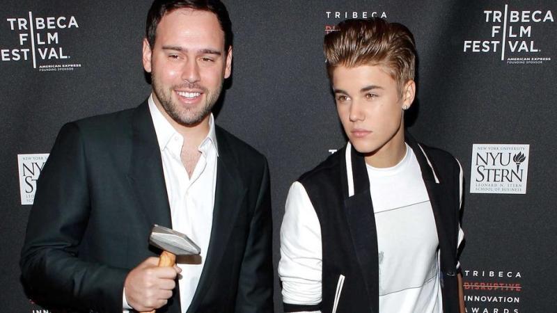 Scooter Braun Justin Bieber