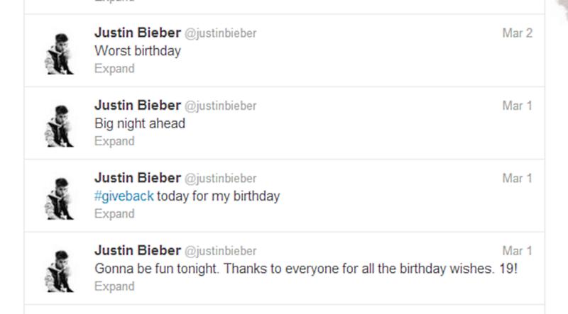 justin bieber worst birthday