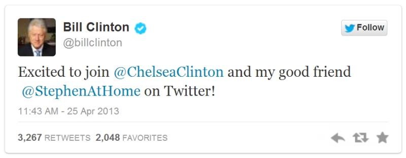 Bill Clinton Chelsea Clinton Twitter