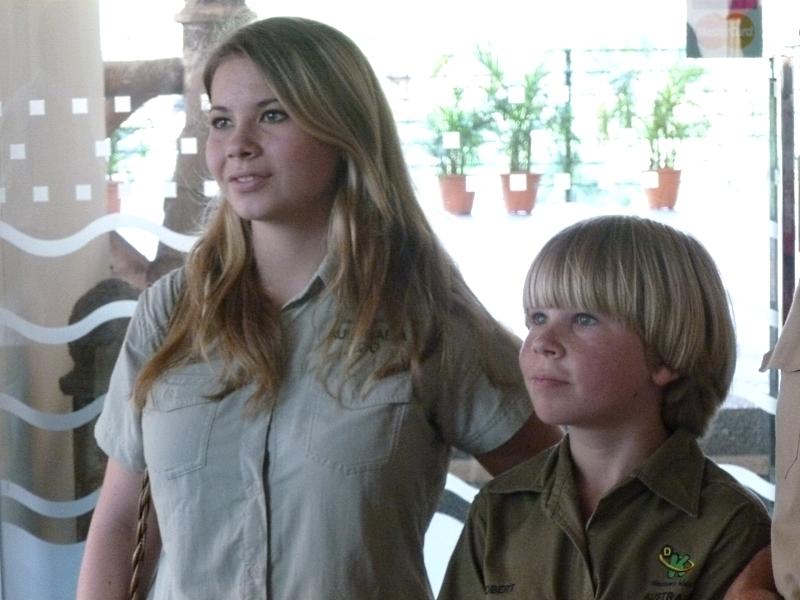 Bindi and Robert Irwin
