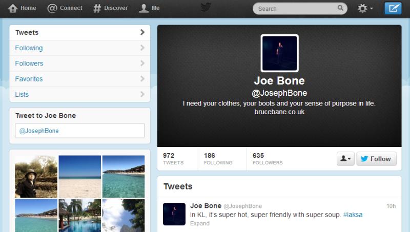 JosephBone Twitter