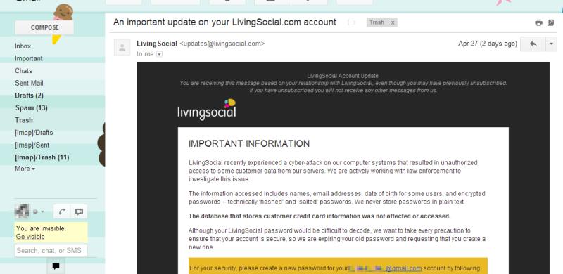 LivingSocial Hacked