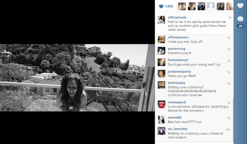 Mel B Mooning Instagram