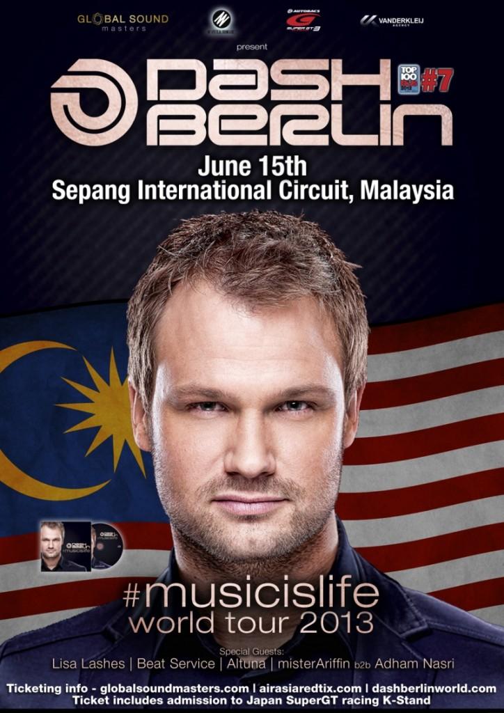 Dash Berlin musicislife Malaysia