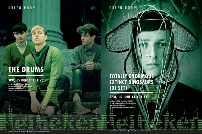 Heineken Green Room The Drums TEED