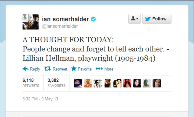 Ian Somerhalder Split Twitter