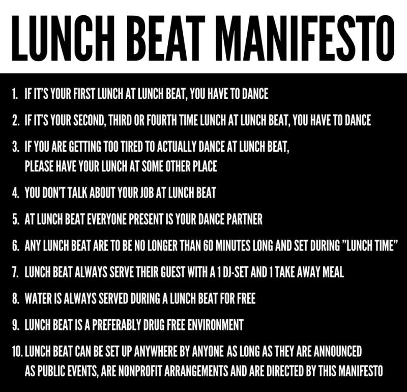 Lunch Beat Manifesto
