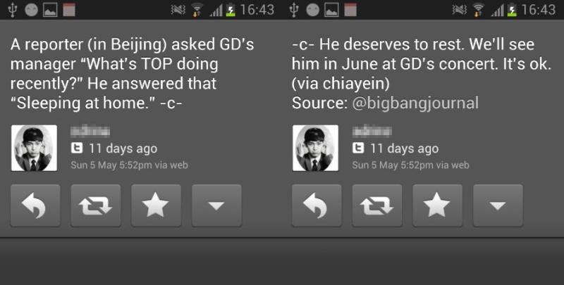 TOP G-Dragon Concert Rumour