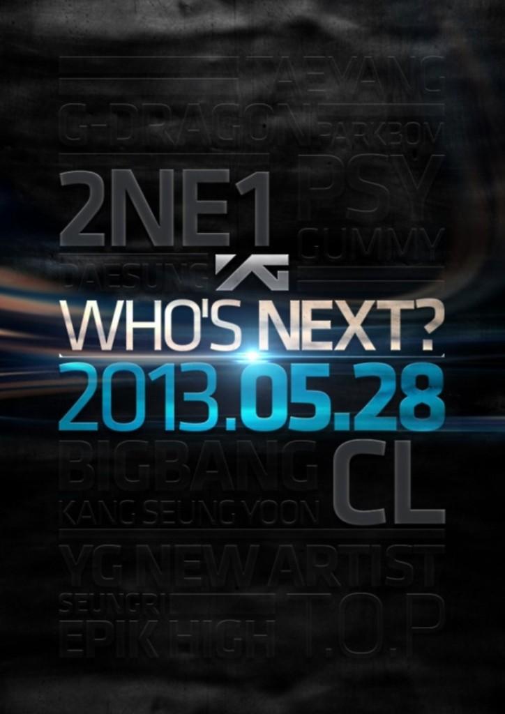 YG Entertainment Who's Next 2NE1 CL