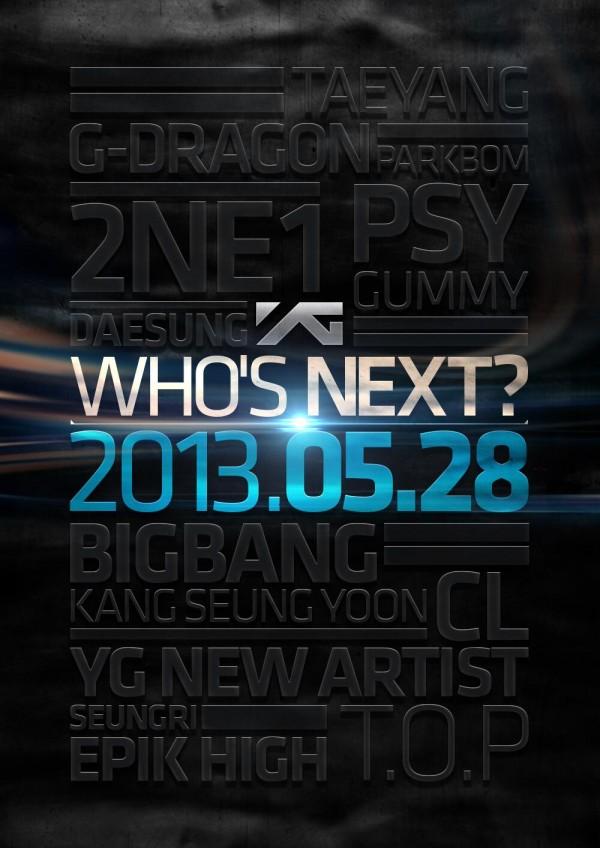 YG Entertainment Who's Next Teaser