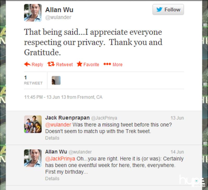 Allan Wu Divorce