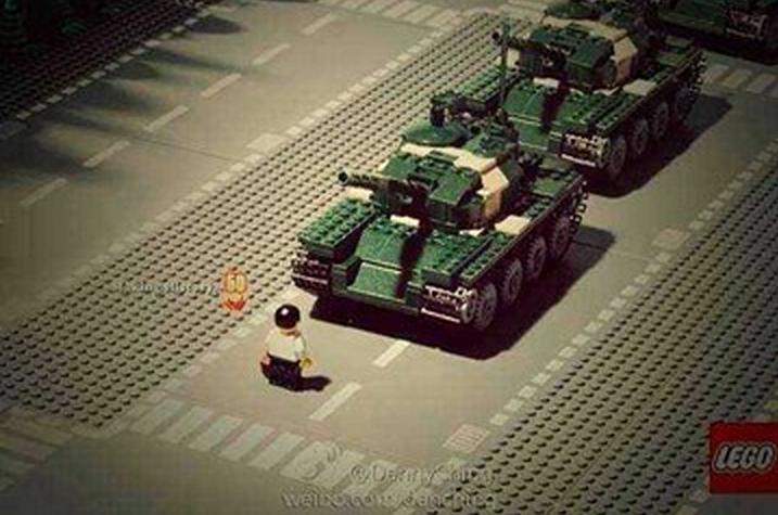 LEGO Tiananmen Weibo