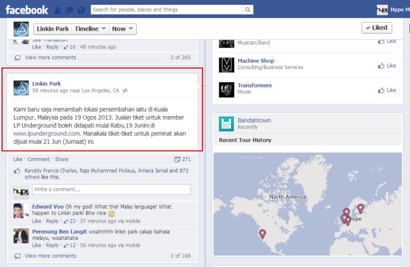 Linkin Park Concert Malaysia