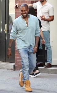 Kanye all smiles