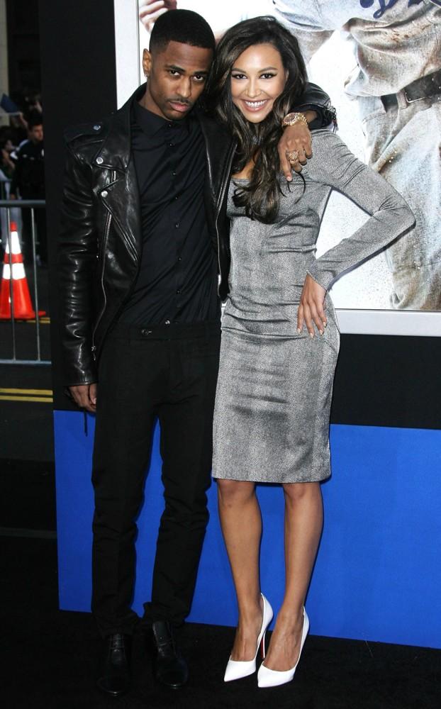 Big Sean and Naya Rivera at the 42 movie premiere