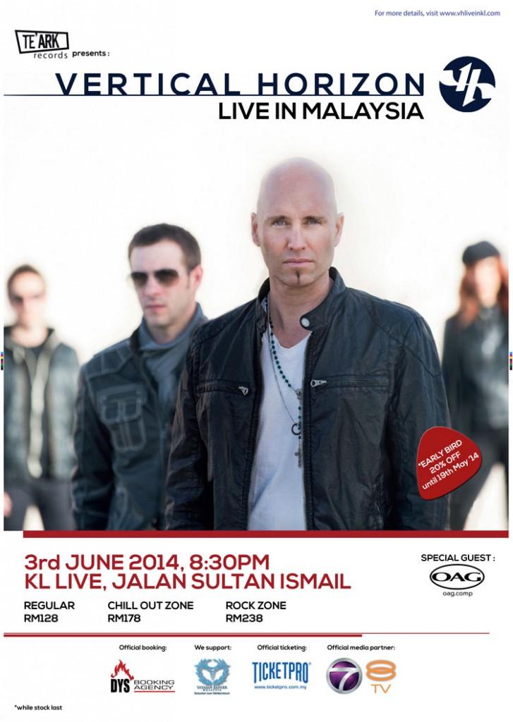Vertical Horizon Live in Malaysia
