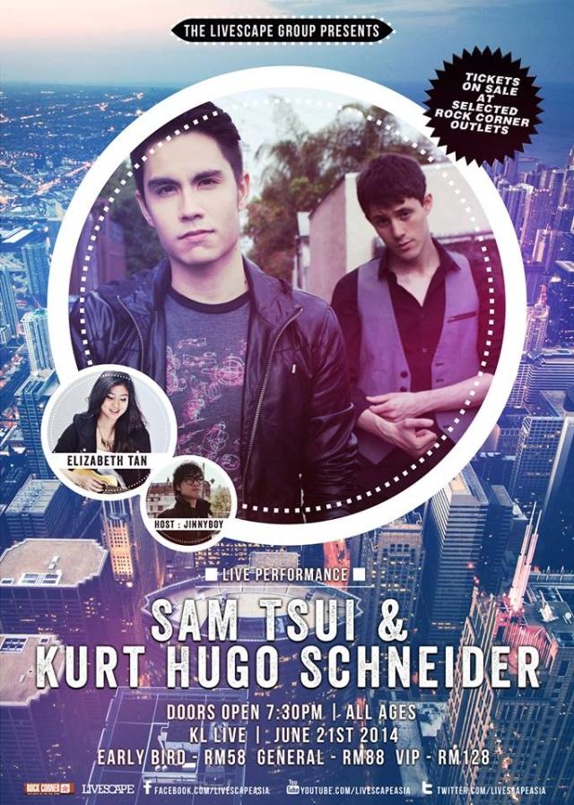 Sam Tsui Kurt Schneider KL Live