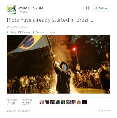 Brazil World Cup riot hoax