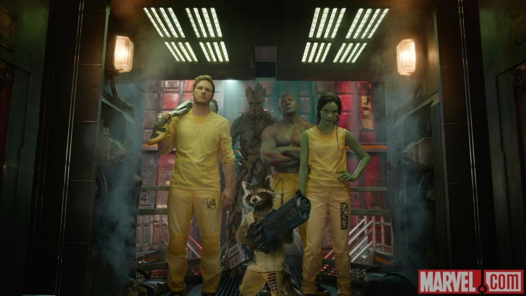 Guardians of The Galaxy Groot, Rocket, Peter Quill, Gamora, Drax