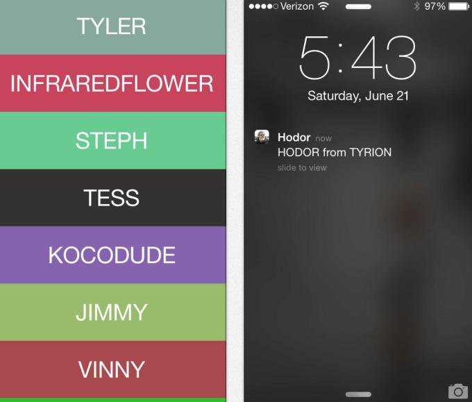 Hodor app