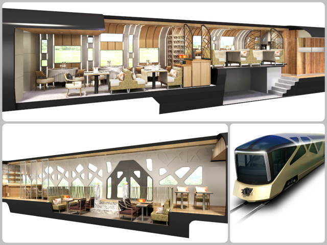 Japan Luxury Cruise Train Collage