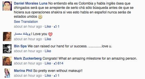 Shakira Mark Zuckerberg