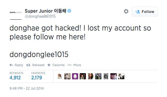 Super Junior Donghae Instagram Hacked