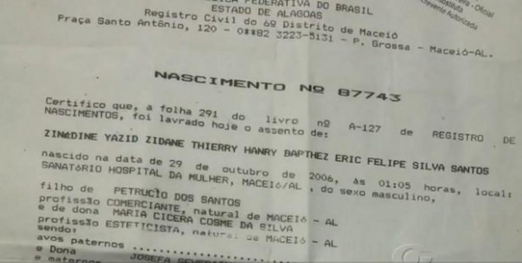 Zinedine Yazid Zidane Thierry Henry Barthez Eric Felipe Silva Santos 5