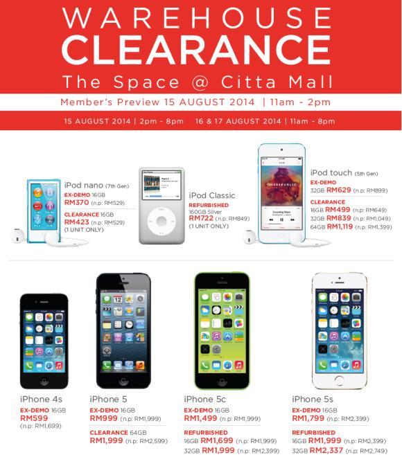 Apple Warehouse Sale Citta Mall