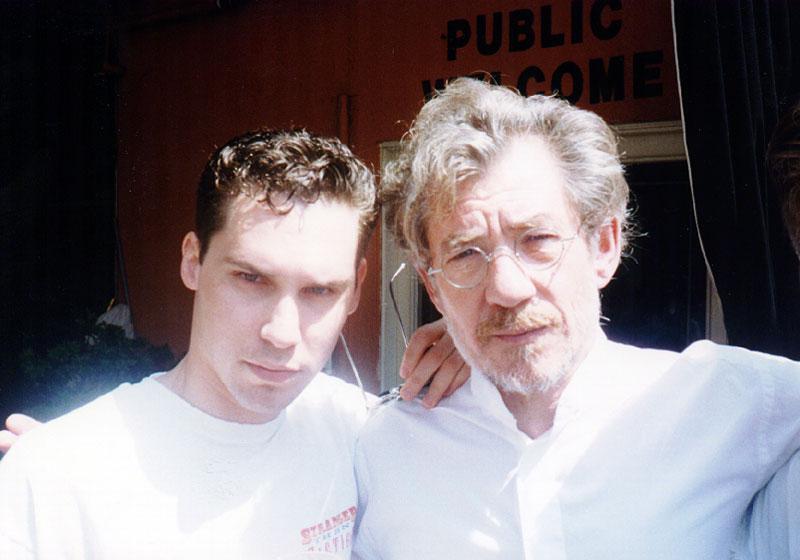 Bryan Singer & Ian Mckellen for Apt Pupil (1997) / Image via Mckellen.com