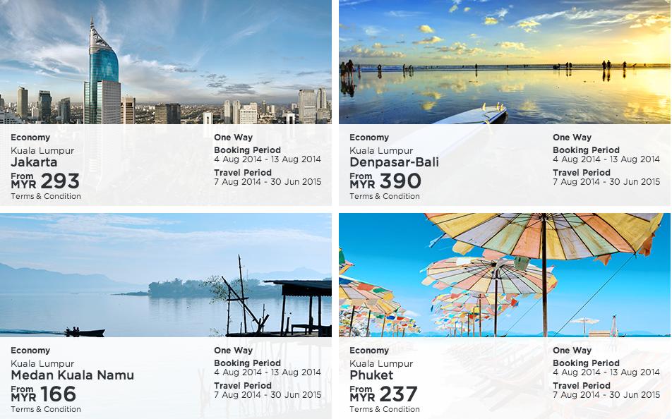 MAS cheap deal Jakarta Phuket Bali Medan Kuala Namu