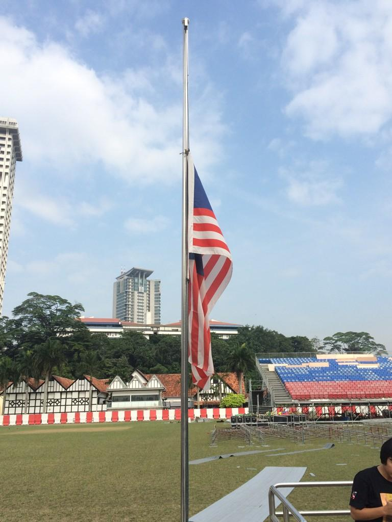 Image result for Jalur Gemilang at half mast