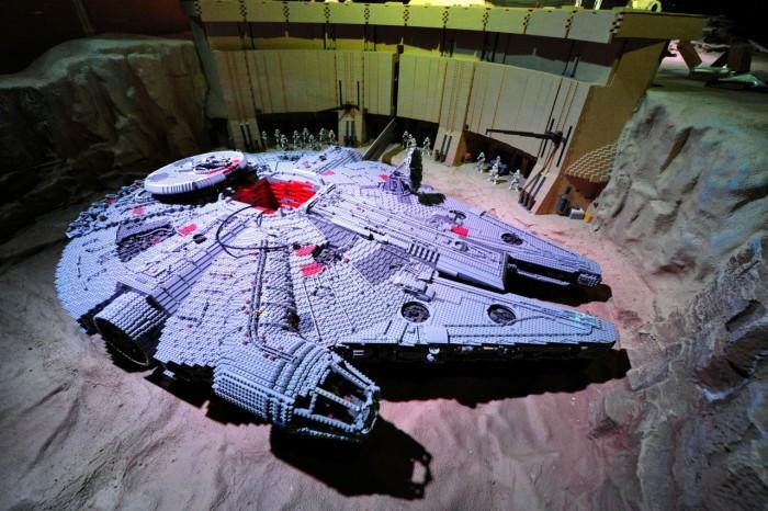 Han Solo's famous starship, the Millennium Falcon