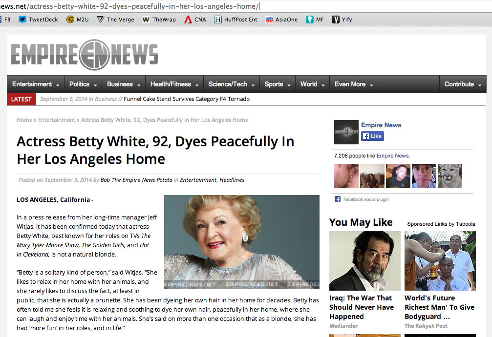ripbettywhite is she dead nope it s a hoax   hype malaysia