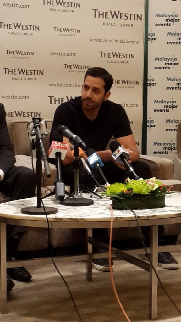 David Blaine Press Conference Kuala Lumpur
