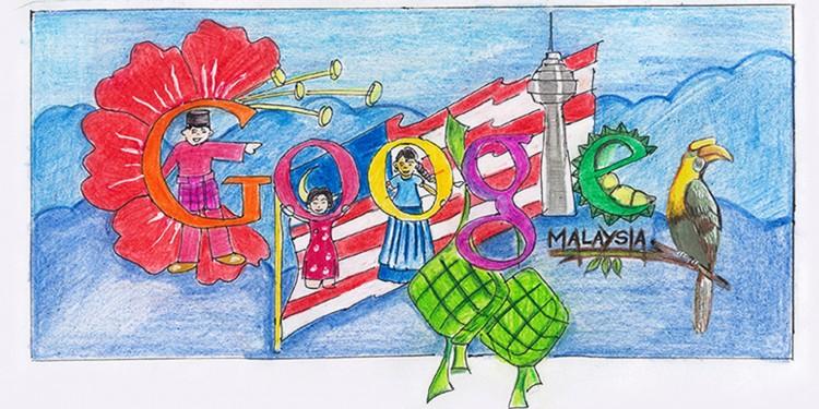 Doodle 4 Google Malaysia Malaysia Day Vaisnawi Harulnathan