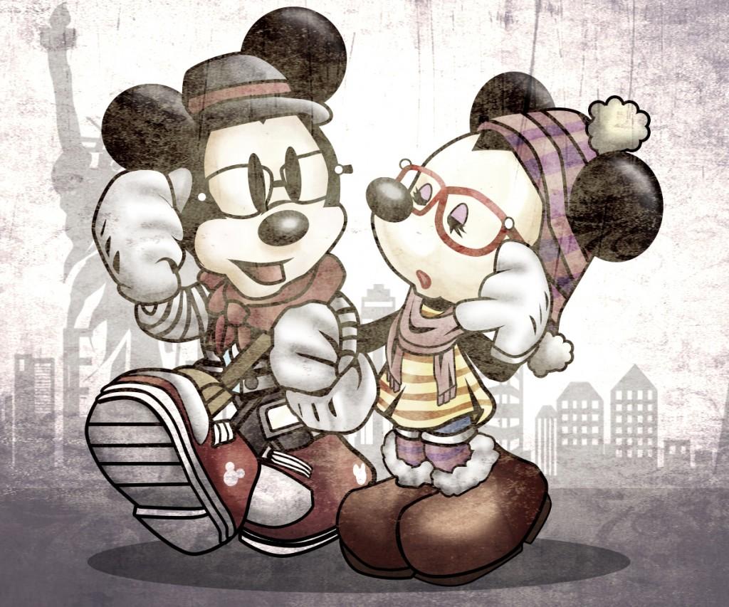 Mickey & Minnie Hipster