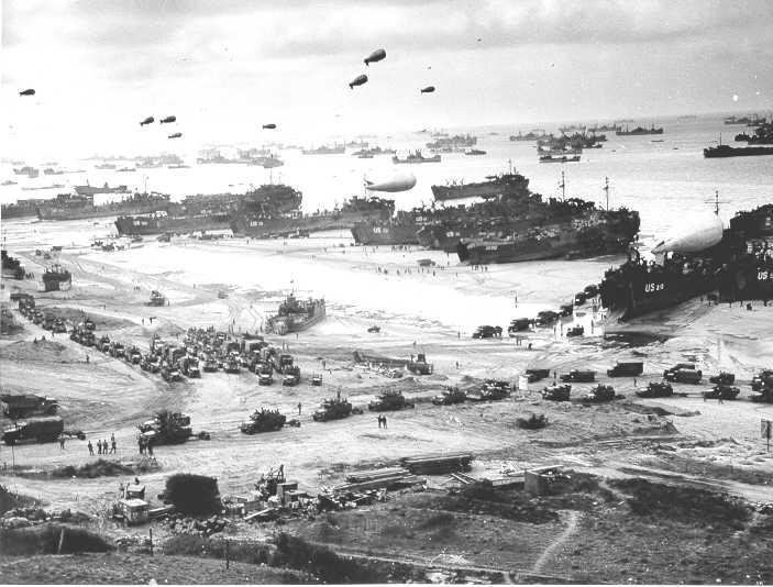 Omaha Beach in 1944 (Source: uscg.mil)
