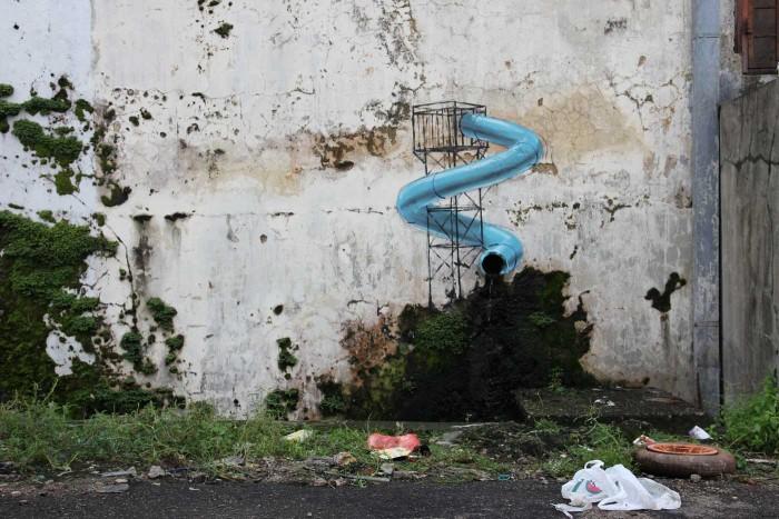 Water slide street art johor bahru malaysia hype malaysia Public swimming pool in johor bahru