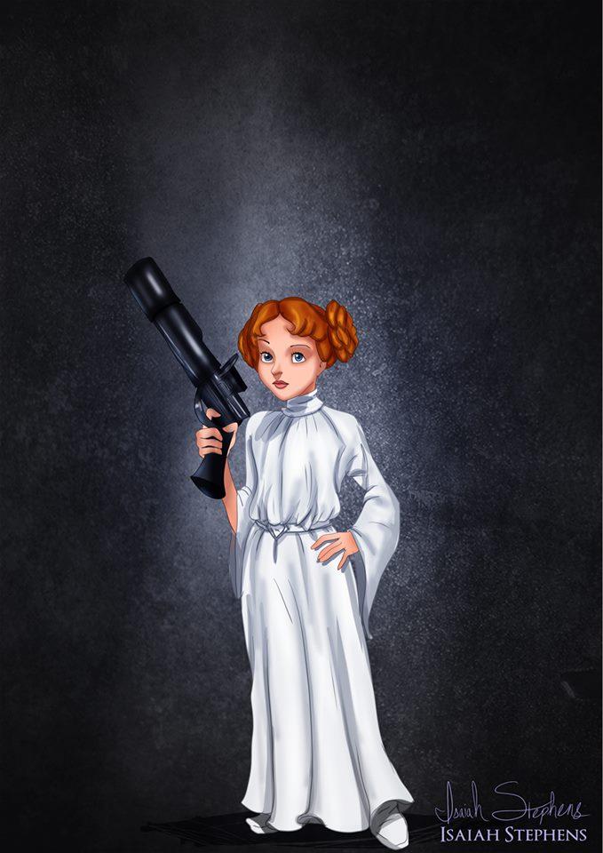 Wendy Darling as Princess Leia