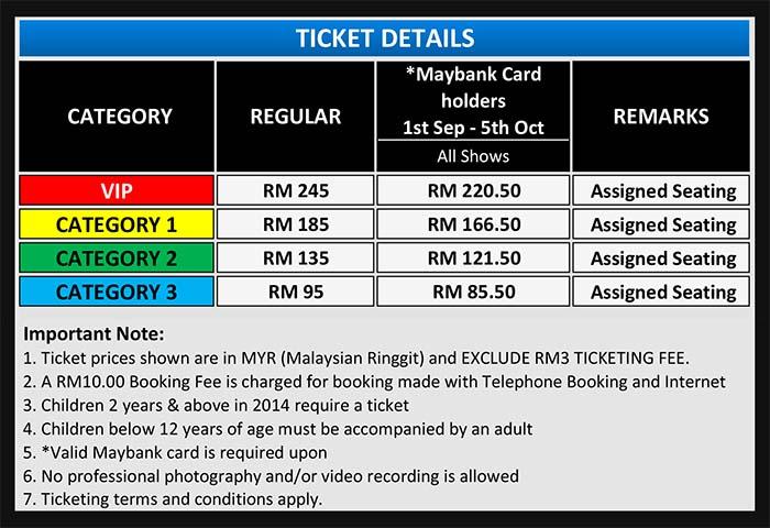 Disney Live 2014 Malaysia Ticketing